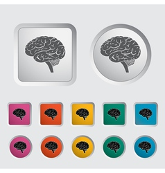 Brain icon 2 vector