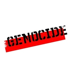 Genocide rubber stamp vector
