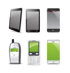 Modern and old gadgets vector