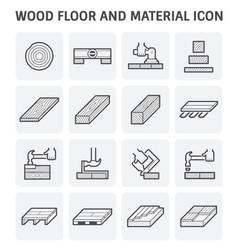 Wood floor icon vector