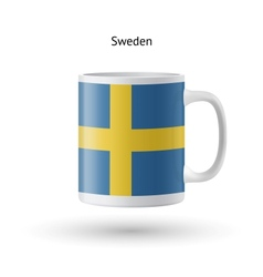 Sweden flag souvenir mug on white background vector