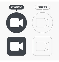 Video camera sign icon video content button vector