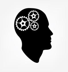 Brain gears vector image