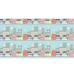 Cityscape seamless pattern vector