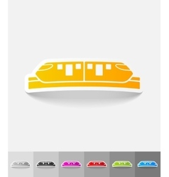 Realistic design element monorail train vector