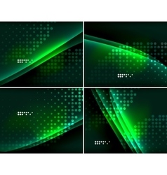 Set of abstract backgrounds with copyspace vector