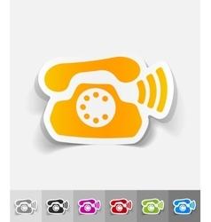 realistic design element phone vector image