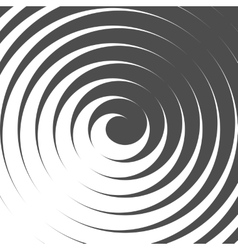 Abstract spiral background retro style black and vector