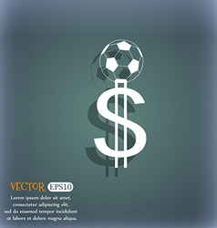 Betting on football money collector bookmaker icon vector