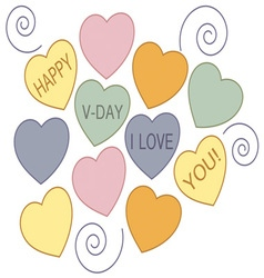 Happy v-day vector