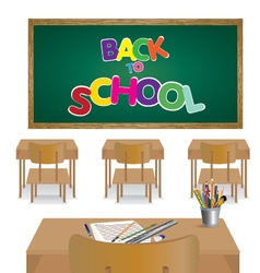 Welcome back to school classroom of student vector