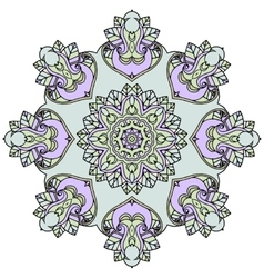 Ornate mandala white background vector