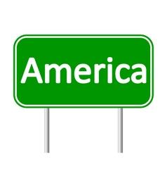 America road sign vector