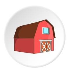Barn for animals icon cartoon style vector