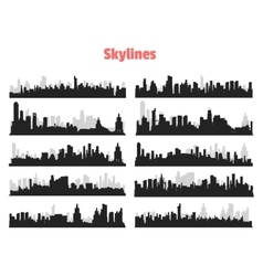 Big City Skylines vector image vector image