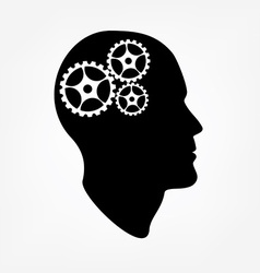 Brain gears vector image vector image