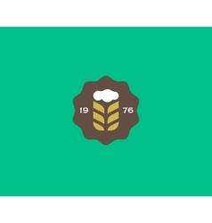 Brewery logotype Beer logo design template Pub vector image