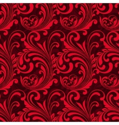 Bright red ornamental seamless pattern vector image