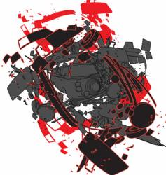 Car explosion vector