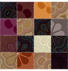 Chain stitch pattern vector