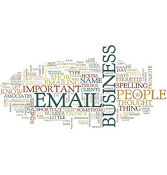 Email etiquette v text background word cloud vector