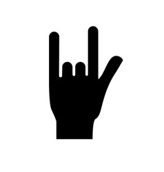 Figure hand with rock symbol and musical signals vector