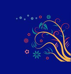 floral elements vector image