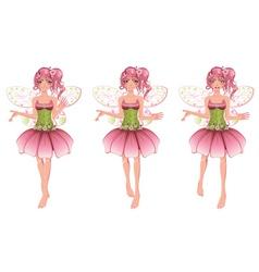 Floral fairy vector