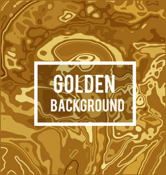 Golden background in marble ink style vector