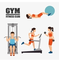 Gym and fitness lifestyle design vector image