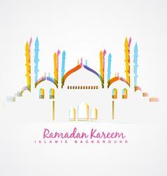 Islamic festival background vector