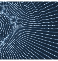 Lattice structure network technology 3d grid vector