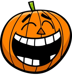 Laughing pumpkin cartoon vector