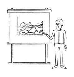 Monochrome blurred silhouette of businessman in vector