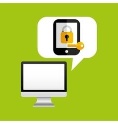 Online protection digital key save vector