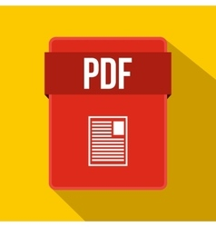 PDF file icon flat style vector image