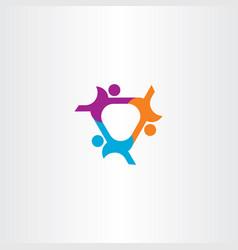 People connect team icon logo symbol design vector