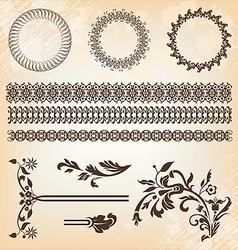 set of beautiful design elements vector image