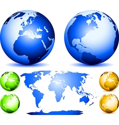 Set of globes vector