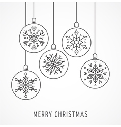 Snowlakes geometric Christmas ornaments vector image vector image