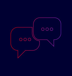 speech bubbles sign line icon with vector image vector image