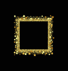 square frame shining banner isolated on vector image