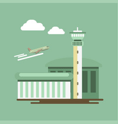 summer travel or holiday vacation airport vector image