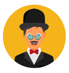 Vintage gentleman portrait vector