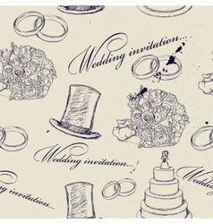 Vintage wedding seamless texture vector image