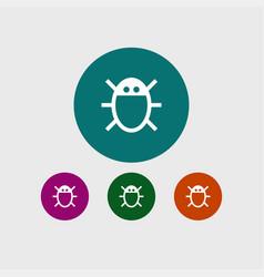 Virus icon simple vector