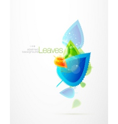 winter leaves vector image vector image