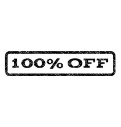 100 percent off watermark stamp vector