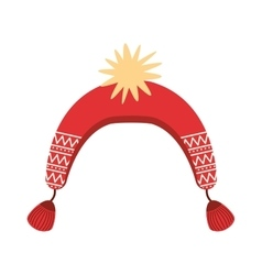 Winter hat isolated cion vector