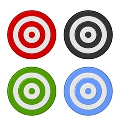 Shooting target icon set isolated on white vector